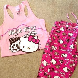 7276b6552 EUC Women's Hello Kitty Summer PJs - Medium